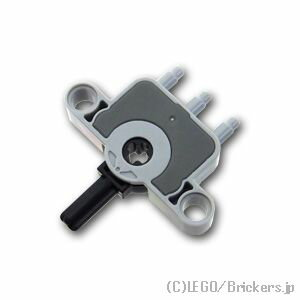 レゴパーツ空気圧スイッチピン穴&十字穴 LightBluishGray/グレー  LEGO純正品のバラ売り