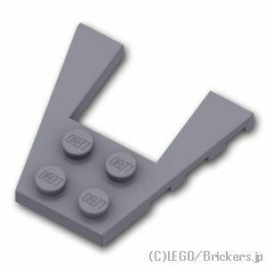 レゴ パーツ ウェッジ プレート 4 x 4 [ Dark Bluish Gray / ダークグレー ] | lego 部品