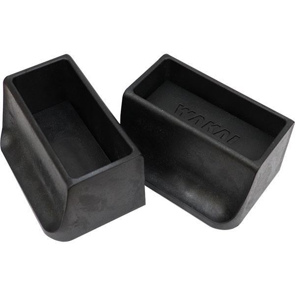 WAKAI ツーバイフォー材 2×4材専用壁面突っ張りシステム ディアウォール ブラック(黒) 上下パッドセット DWS90BK