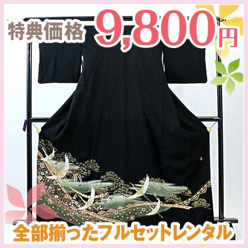 レンタル留袖02-k756飛鶴松唐草...