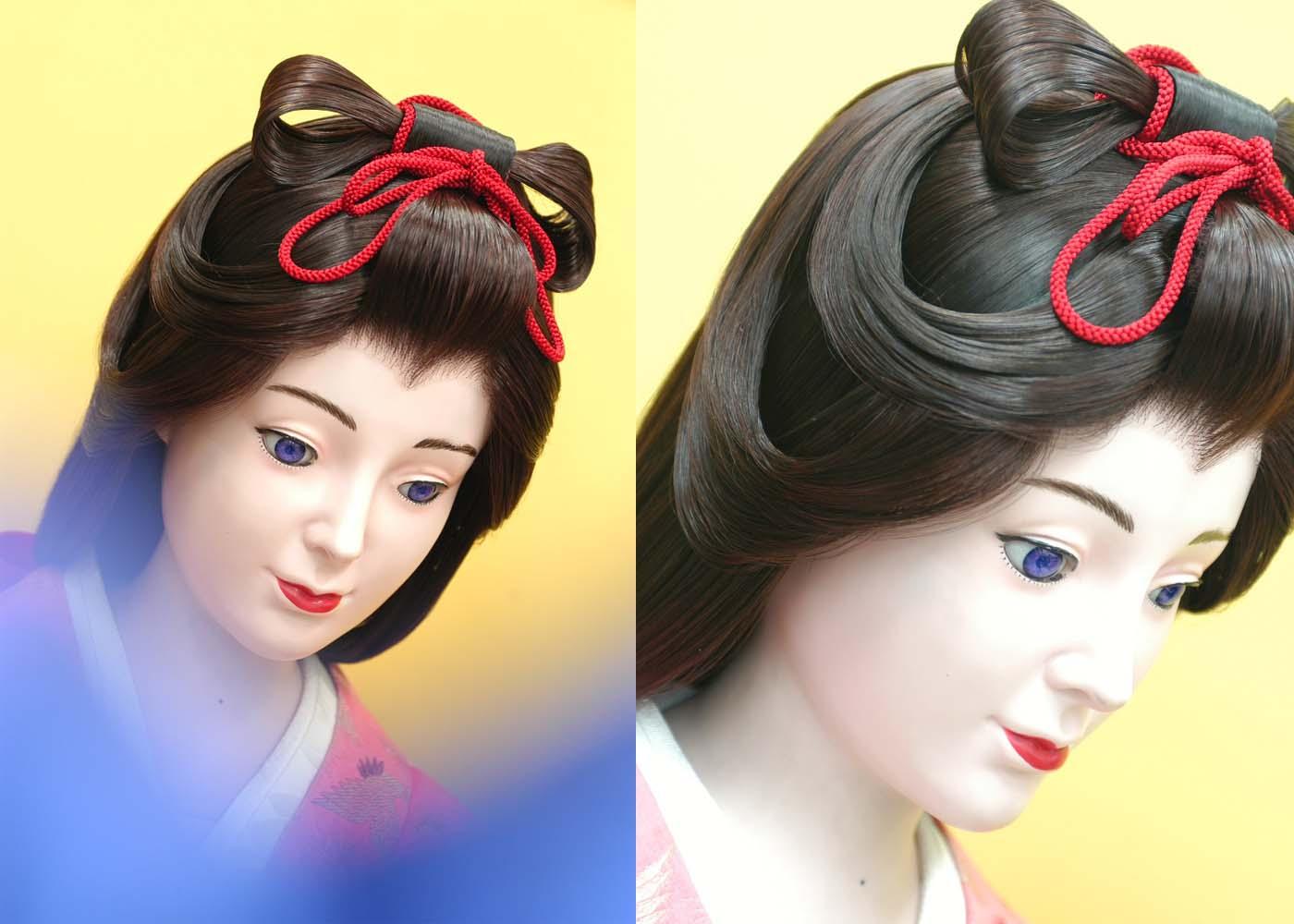 天女 カツラ 挙式 結婚式 披露宴 イベント コスプレ 日本髪 撮影  宴会 舞台 パーティー(レンタル 栗色)
