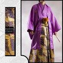 034m【紫色×桜流水レンタル4泊5日/往復送料無料】《紋付...