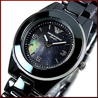 EMPORIOARMANI/エンポリオアルマーニ【CERAMICA/セラミカ】レディース腕時計シェル文字盤ブラックセラミックAR1438【_包装選択】【YDKG-k】