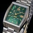 ORIENT【オリエント】レディース腕時計 自動巻 グリーン文字盤 メタルベルト サイクルカレンダー URL034NQ 海外モデル