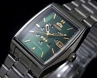 ORIENT【オリエント】レディース腕時計自動巻グリーン文字盤メタルベルトサイクルカレンダーURL034NQ【楽ギフ_包装選択】