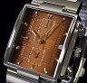 ORIENT【オリエント】アラームクロノグラフ メンズ腕時計 メタリックブラウン文字盤 メタルベルト URL002TD