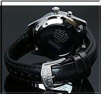 ORIENT/FLASHNorthstar【オリエント/ノーススター】メンズ腕時計手巻きMADEINJAPANシャンパン文字盤ブラックレザーベルトURL003DL【送料無料】【楽ギフ_包装選択】