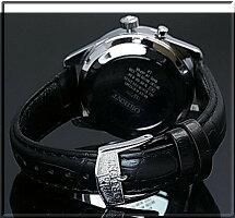 ORIENT/FLASHNorthstar【オリエント/ノーススター】メンズ腕時計手巻きMADEINJAPANブラック文字盤ブラックレザーベルトURL001DL【送料無料】【楽ギフ_包装選択】