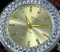 ORIENT/FLASHNorthstar【オリエント/ノーススター】メンズ腕時計手巻きMADEINJAPANゴールド文字盤ブラウンレザーベルトURL002DL【送料無料】【楽ギフ_包装選択】