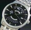 ORIENT【オリエント】メンズ腕時計自動巻万年カレンダーブラック文字盤メタルベルトMADEINJAPAN海外モデルSEU0A007BH