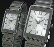 ORIENT【オリエント】スタンダード クォーツ ペアウォッチ 腕時計 シルバー文字盤 メタルベルト Made in JAPAN SUNEF009W0/SUBTT009W0