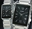 ORIENT【オリエント】スタンダード クォーツ ペアウォッチ 腕時計 ブラック文字盤 メタルベルト Made in JAPAN SUNEF008B0/SUBTT008B0