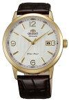 ORIENT【オリエント】メンズ腕時計自動巻ゴールドケースホワイト文字盤ブラウンレザーベルトMADEINJAPAN海外モデルSER27004W0