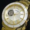 ORIENT【オリエント】メンズ腕時計ボーイズサイズ自動巻スケルトンシャンパン文字盤ゴールドメタルベルトMADEINJAPAN海外モデルSDB0B003S0