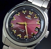 【ORIENT/オリエント】ソーラー電波腕時計メンズワインレッド文字盤メタルベルト【送料無料】MADEINJAPAN国内正規品WV0081SE