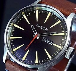 NIXON【ニクソン】SENTRY LEATHER/セントリー メンズ腕時計 ブラック/ブラウン【送料無料】A105-019(国内正規品)