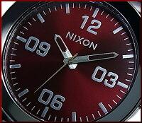 NIXON【ニクソン】CORPORALSS/コーポラルガンメタル/デープバーガンディメンズ腕時計ワインレッド文字盤ガンメタメタルベルト【送料無料】A346-2073(国内正規品)