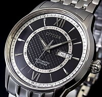 【CITIZEN/シチズン】自動巻メンズ腕時計ブラック文字盤メタルベルトNH8320-50EMADEINJAPAN海外モデル【楽ギフ_包装選択】【YDKG-k】