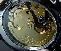 CITIZEN/Automatic【シチズン/オートマチック】自動巻メンズ腕時計ブラック文字盤メタルベルトNH8320-50EMADEINJAPAN(海外モデル)【楽ギフ_包装選択】