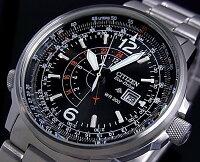 CITIZEN/PROMASTERNighthawk【シチズン/プロマスターナイトホーク】メンズソーラー腕時計ブラック文字盤メタルベルトBJ7010-59E(海外モデル)【楽ギフ_包装選択】【02P01Jun14】