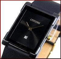 【CITIZEN/シチズン】スタンダードメンズ腕時計ブラック文字盤ブラックレザーベルトBG5089-19E海外モデル【楽ギフ_包装選択】【YDKG-k】