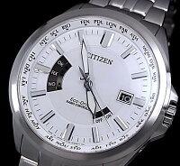 【CITIZEN/シチズン】メンズソーラー電波腕時計ホワイト文字盤メタルベルトCB0011-51A海外モデル【楽ギフ_包装選択】【YDKG-k】MADEINJAPAN