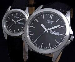 CITIZEN/Standard【シチズン/スタンダード】メンズ腕時計ブラック文字盤ブラックレザーベルトBF0580-06E(海外モデル)【楽ギフ_包装選択】