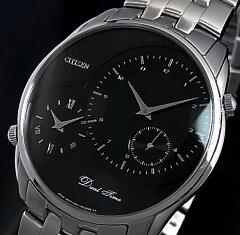 CITIZEN/Dual Time【シチズン/デュアルタイム】メンズ腕時計 ブラック文字盤 メ…