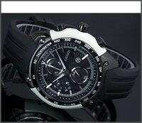 【CITIZEN/シチズン】クロノグラフトヨタ86コラボメンズソーラー腕時計ブラック文字盤ブラックラバーベルトCA0385-06E海外モデルMADEINJAPAN【楽ギフ_包装選択】【YDKG-k】