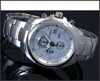 【CITIZEN/シチズン】クロノグラフチタンモデルメンズソーラー腕時計ホワイト文字盤メタルベルトCA0190-56B海外モデル【_包装選択】【YDKG-k】