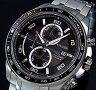 CITIZEN/Chronograph【シチズン/クロノグラフ】チタンモデル メンズ ソーラー腕時計 ブラック文字盤 メタルベルト CA0341-52E MADE IN JAPAN(海外モデル)