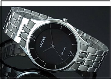 CITIZEN/エコドライブ【シチズン】メンズ ソーラー腕時計 ブラック文字盤 メタルベルト AR0070-51E MADE IN JAPAN 海外モデル【並行輸入品】