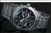 CITIZEN/Chronograph【シチズン/クロノグラフ】チタンモデルメンズソーラー腕時計ブラック文字盤メタルベルトCA4011-55EMADEINJAPAN(海外モデル)