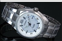 CITIZEN/エコドライブ【シチズン】チタンモデルメンズソーラー腕時計ホワイト文字盤メタルベルトBM6901-55BMADEINJAPAN(海外モデル)