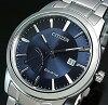 CITIZEN/Standard【シチズン/スタンダード】メンズソーラー腕時計パワーリザーブ付ネイビー文字盤メタルベルト(海外モデル)AW7010-54L