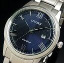CITIZEN/エコドライブ【シチズン】メンズ ソーラー腕時計 ネイビー文字盤 メタルベルト 海外モデル【並行輸入品】AW1231-58L