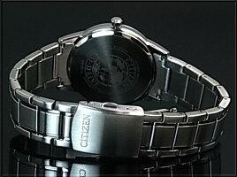 CITIZEN/エコドライブ【シチズン】メンズソーラー腕時計ネイビー文字盤メタルベルト海外モデル【並行輸入品】AW1231-58L