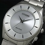 CITIZEN/Standard【シチズン/スタンダード】メンズソーラー腕時計シルバー文字盤メタルベルト海外モデル【並行輸入品】BJ6481-58A