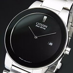 CITIZEN/Standard【シチズン/スタンダード】メンズソーラー腕時計ブラック文字盤メタルベルト海外モデル【並行輸入品】AU1060-51E