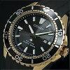 CITIZEN/PROMASTER【シチズン/プロマスター】メンズ腕時計エコドライブ200M防水ダイバーズゴールドケースブラック文字盤ブラックラバーベルトBN0193-17E海外モデル【並行輸入品】