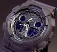 CASIO/G-SHOCK【カシオ/Gショック】アナデジ メンズ腕時計 ブラック GA-100-1A1 海外モデル