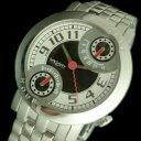 VAGARY【バガリー】メンズ腕時計 レトログラード ホワイト/ブラッ...