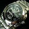 SEIKO/Alarm Chronograph【セイコー/アラームクロノグラフ】メンズ腕時計 ブラック文字盤 メタルベルト SNA525P1 (海外モデル)