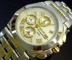 SEIKO/セイコー【アラームクロノグラフ】メンズ腕時計ホワイト文字盤コンビメタルベルト【送料無料】SNA526P1