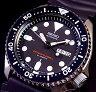 SEIKO/200m diver's watch【セイコー/200m防水ダイバーズ】自動巻 メンズ腕時計 ラバーベルト ブラック文字盤 MADE IN JAPAN SKX007J (海外モデル)