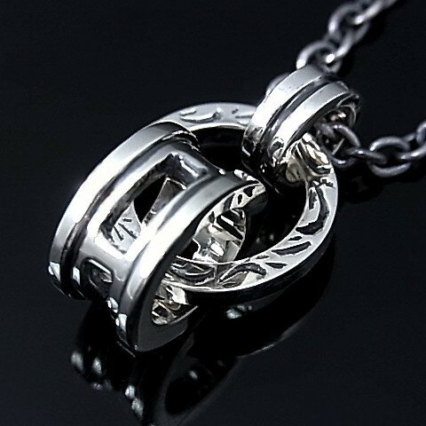 RUSS-K/Silver accessory【ラス-ケイ/シルバーアクセ】3連リングトップネックレス【送料無料】RK230N(国内正規品)