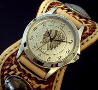 KC,s/ケイシイズ【ESPANOLABASKET/エスパニョーラバスケット】メンズ腕時計シルバーインディアン文字盤サドルレザーベルト【送料無料】KPR011-SVFESA【KCS】