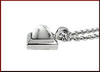 NICOLE/Silveraccessory【ニコル/シルバーアクセ】ハウライト/シルバーネックレス&片側ピアスセット【送料無料】NC-LP274N/NC-LP277P(国内正規品)