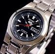 SEIKO/オートマチック【セイコー/自動巻】レディース腕時計【SEIKO5/セイコー5】メタルベルト ブラック文字盤 MADE IN JAPAN セイコーファイブ SYMH29J1 (海外モデル)