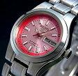 SEIKO/オートマチック【セイコー/自動巻】レディース腕時計【SEIKO5/セイコー5】メタルベルト メタリックピンク文字盤 MADE IN JAPAN セイコーファイブ SYMH27J1 (海外モデル)